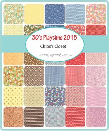 Playtime 2015 - Moda Charm Pack by Chloe's Closet for Moda Fabrics ...
